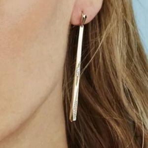 Kendra Scott Melissa silver earrings NWT & bag